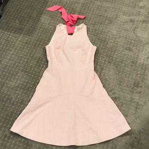 J. Crew Factory Size 4 pink striped dress